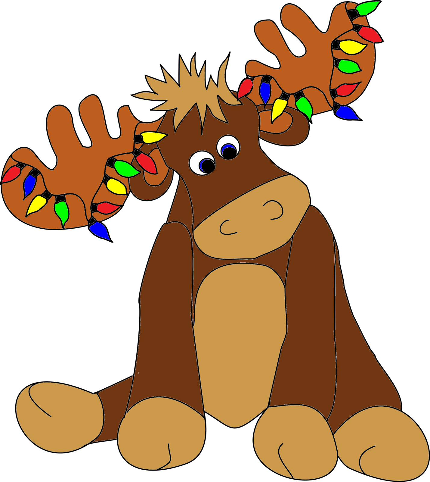 Christmas moose clipart 2