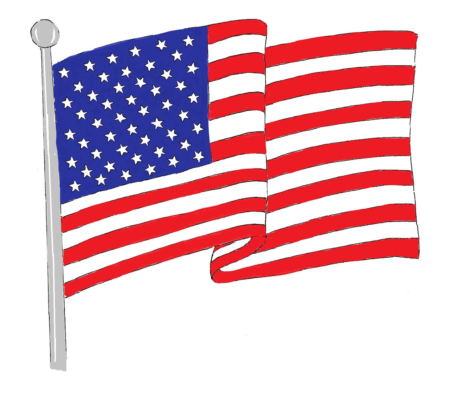 Clip art american flag hostted