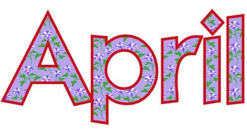 Clip art april clipart