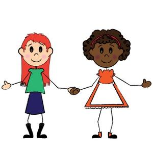 Clip art girl friends clipart 2