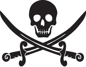 Clip art pirate skull clipart 2