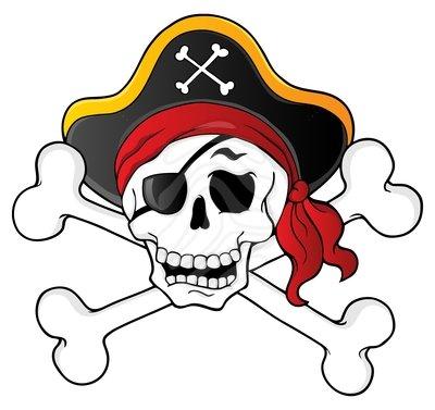 Clip art pirate skull clipart