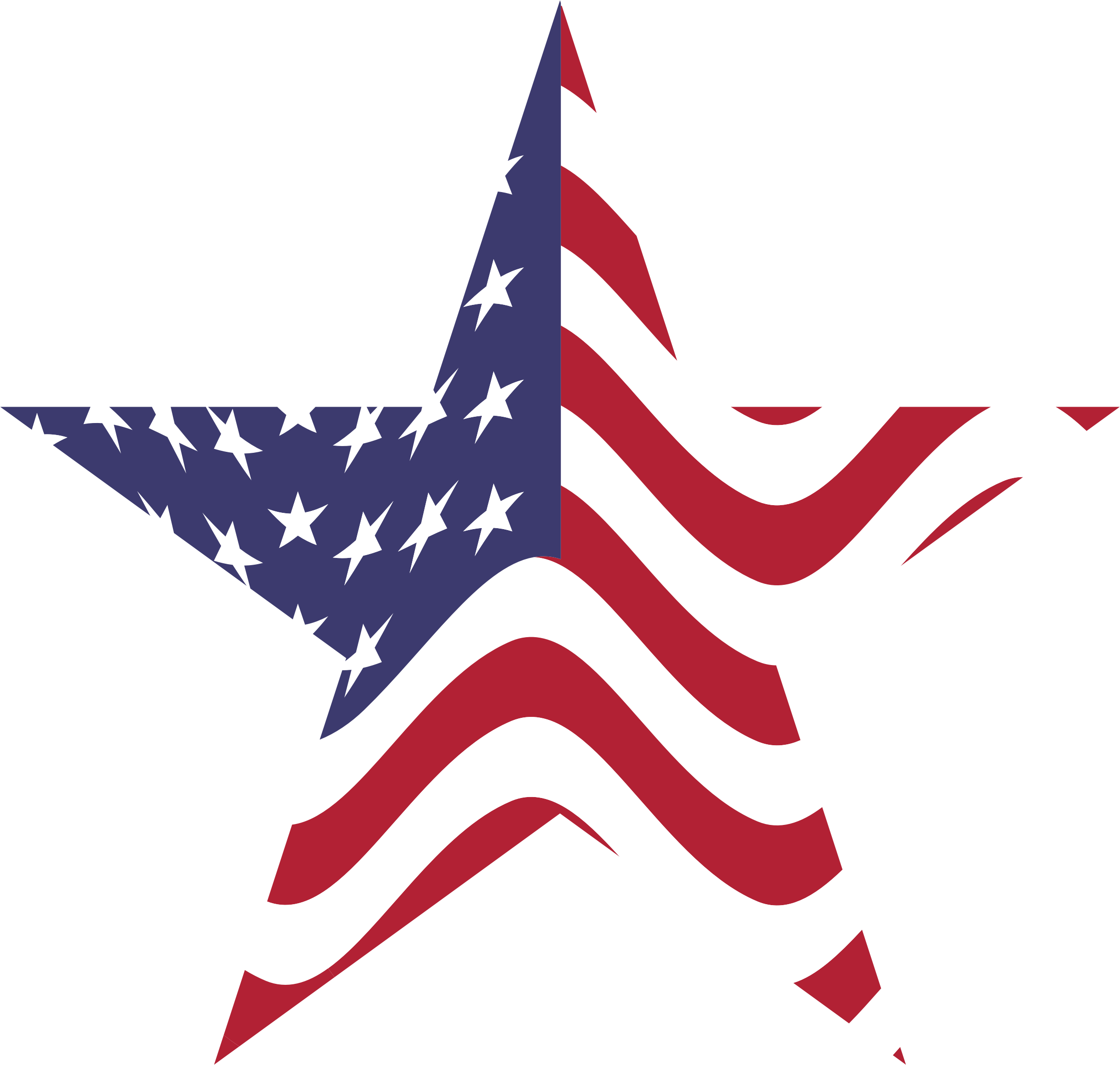 American flag star. Clipart wikiclipart