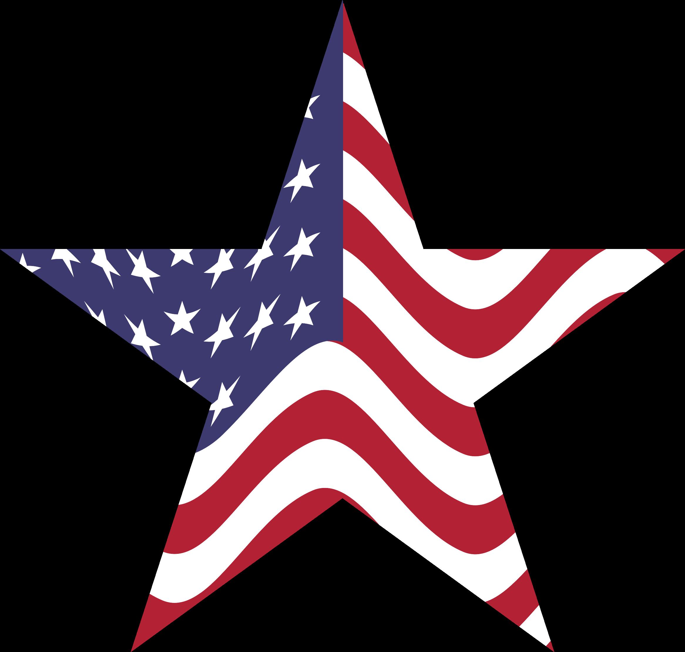 Clipart american flag star