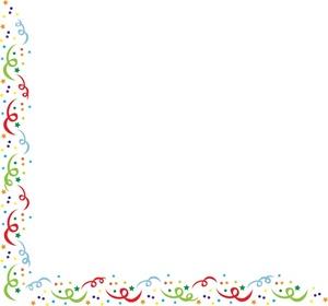 Confetti border clipart 4