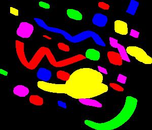 Confetti clip art black and white free clipart