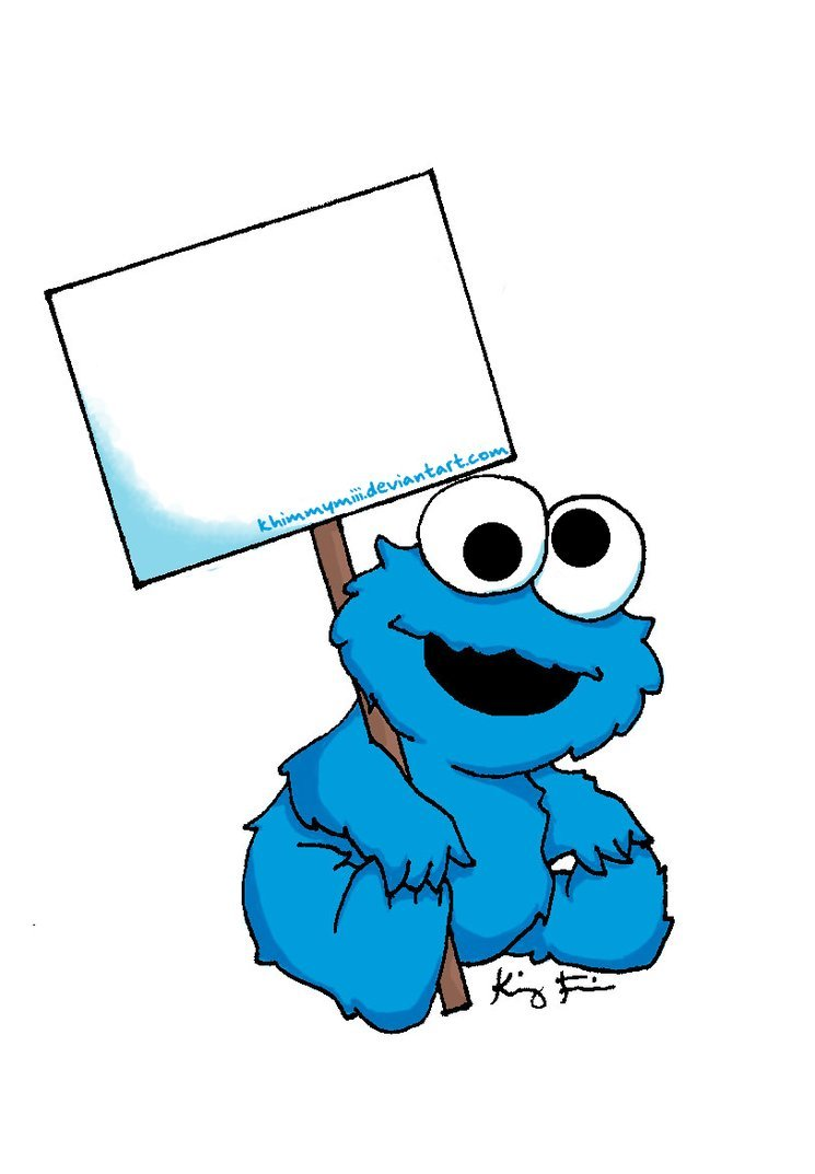 Cookie monster baby clipart