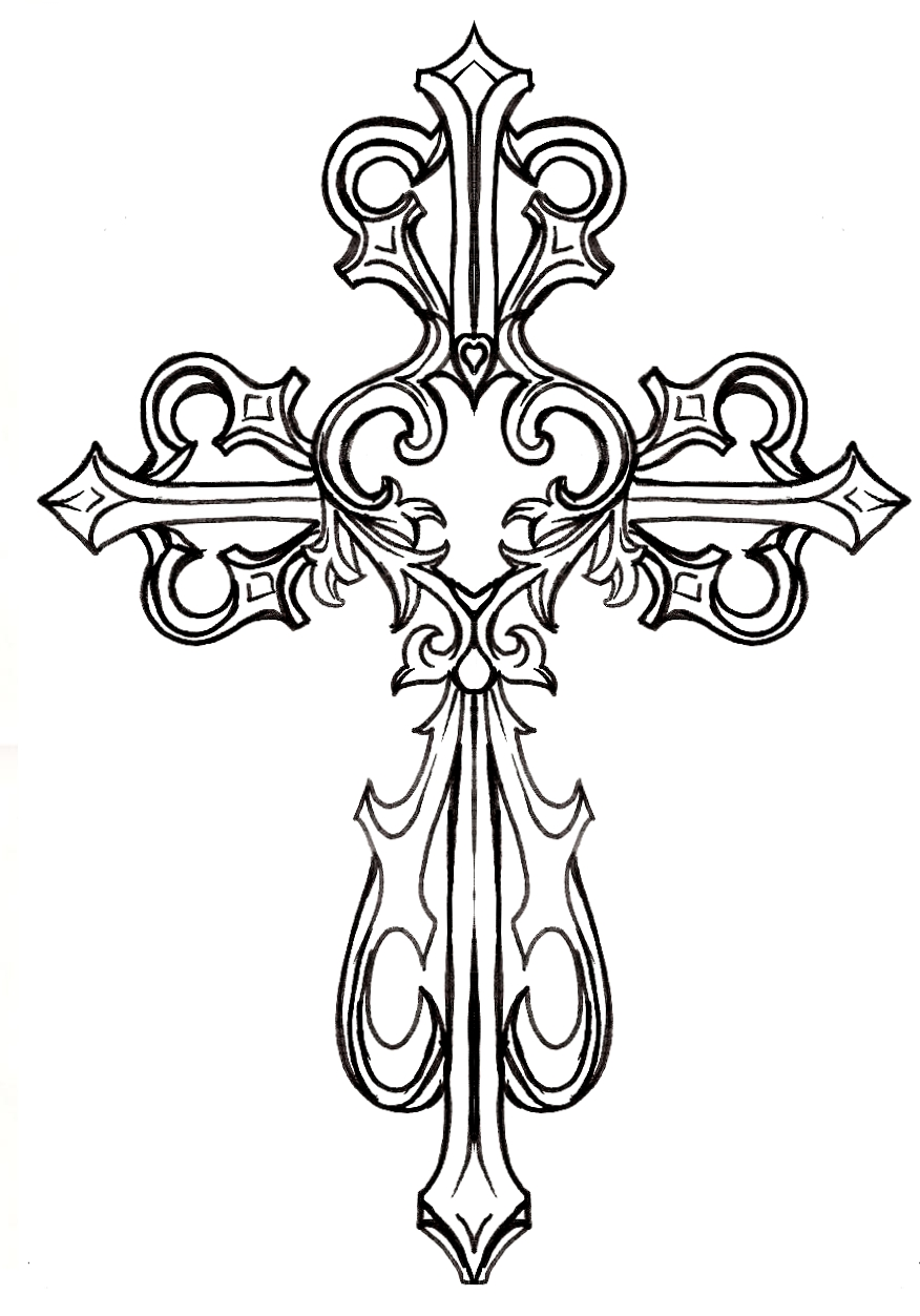 cross black and white baptism cross clip art free clipart