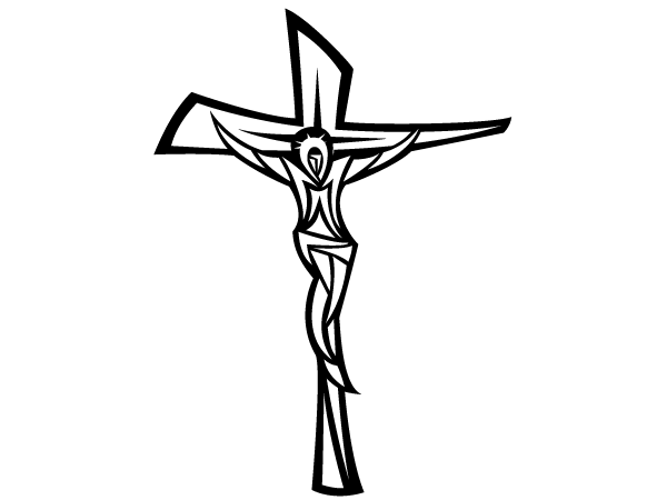 Cross  black and white crucifix black and white clipart 4
