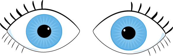 Crossed eyes clipart