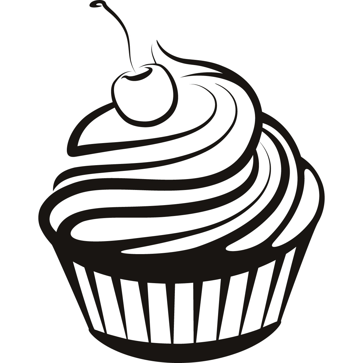 Cupcake Black And White Cupcake Drawings And Cupcakes Clipart