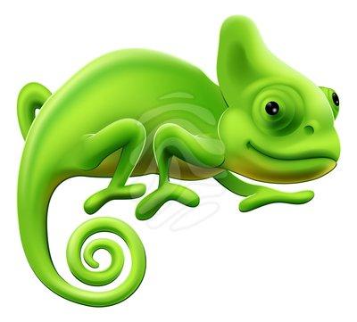 Cute chameleon clipart