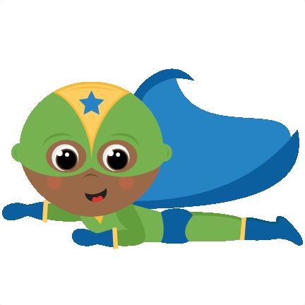 Cute superhero clipart