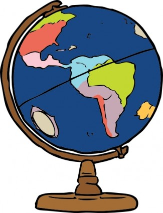 Earth globe clip art free clipart images