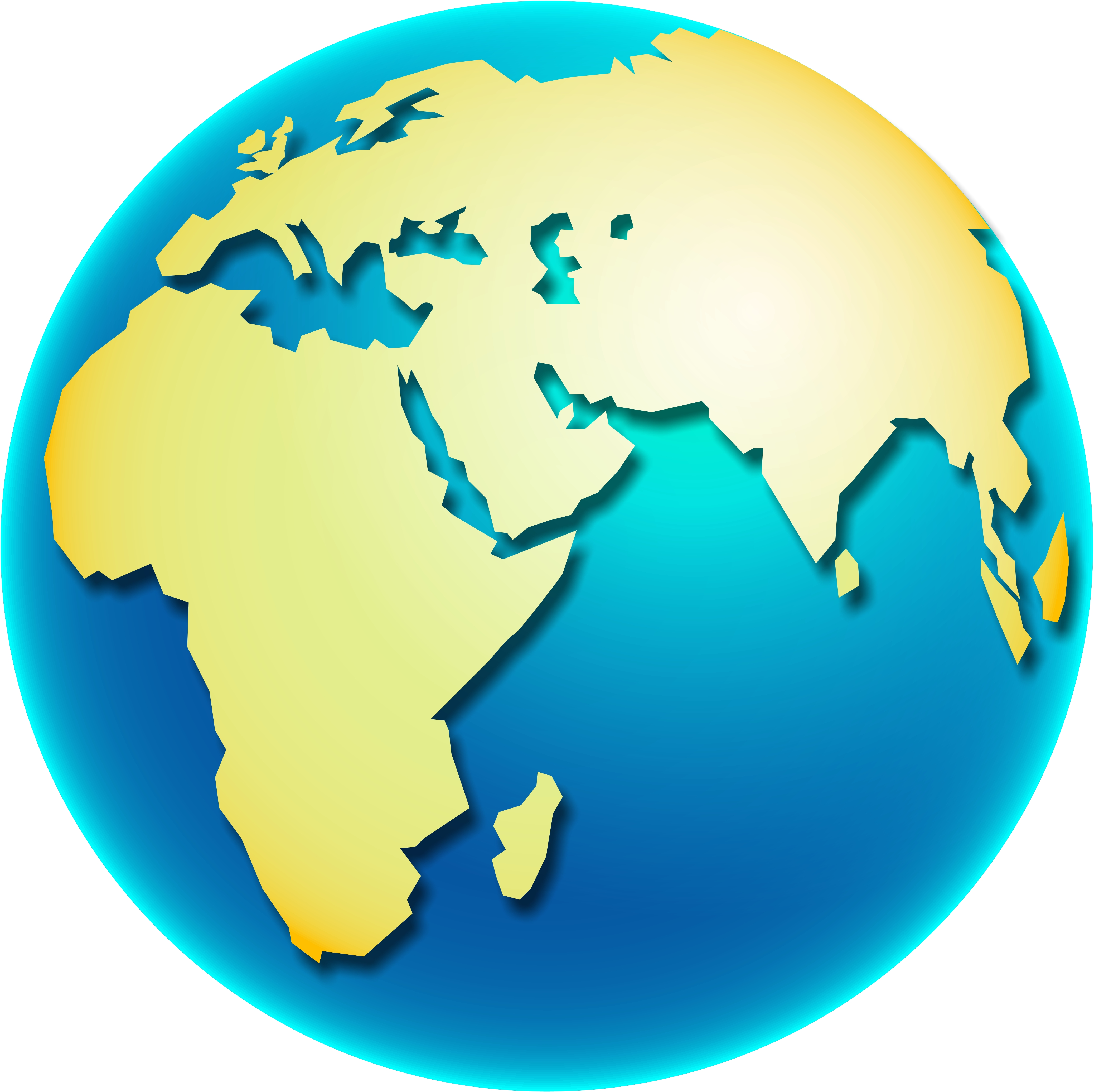 Earth globe clip art