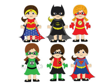 Female superhero clipart 3