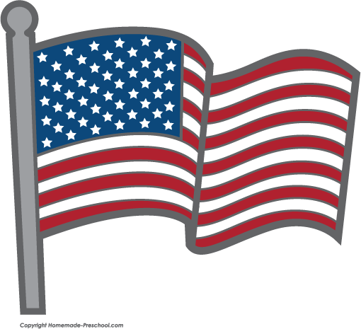 Free american flags clipart 2