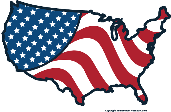 Free american flags clipart 5