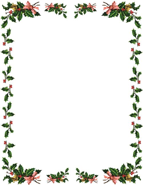 photo relating to Free Printable Christmas Clip Art identified as Free of charge borders xmas border xmas clip artwork borders