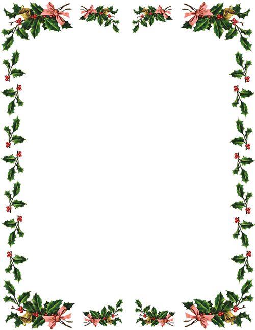 image regarding Free Printable Christmas Borders titled Free of charge borders xmas border xmas clip artwork borders
