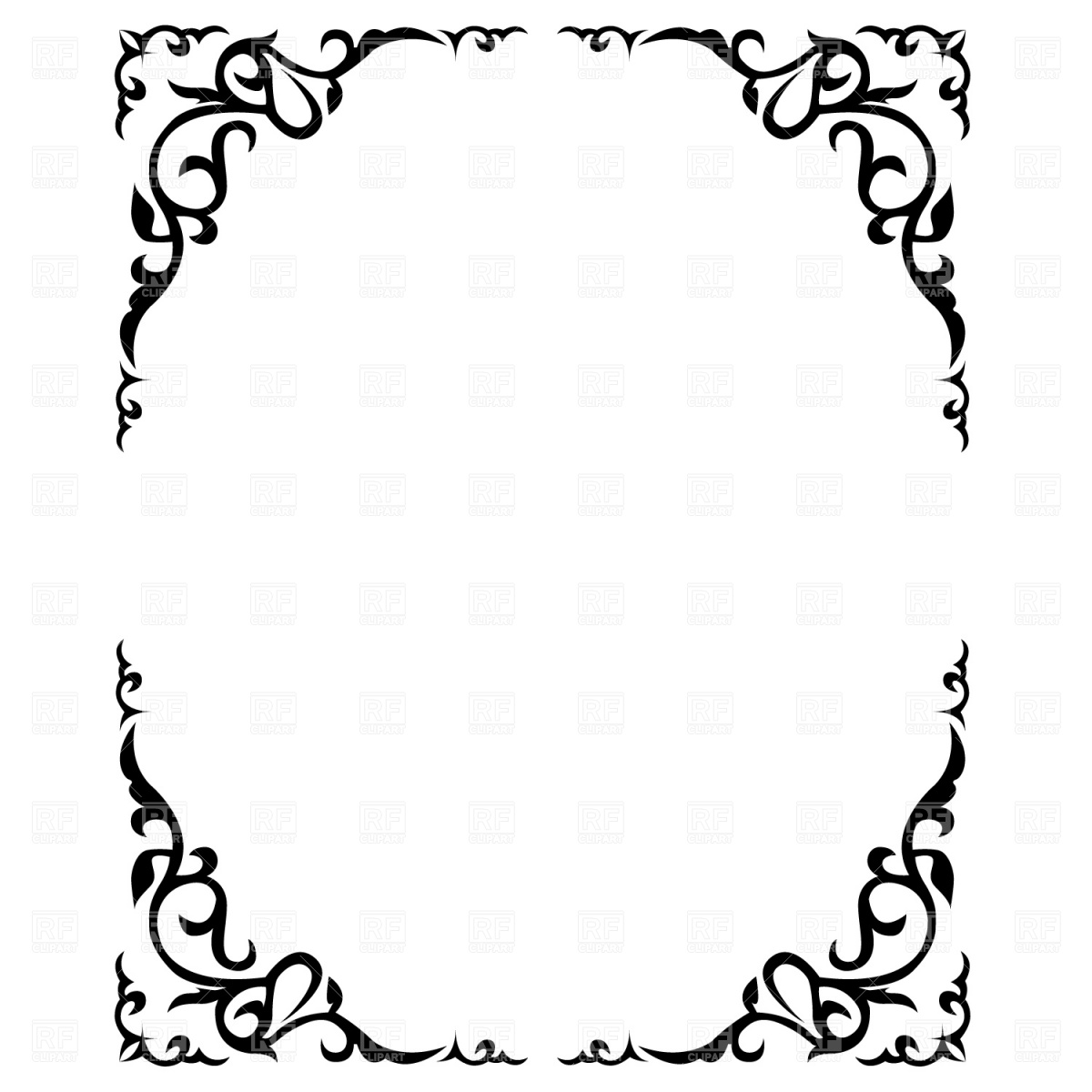 Free  borders rustic wedding borders clipart 2