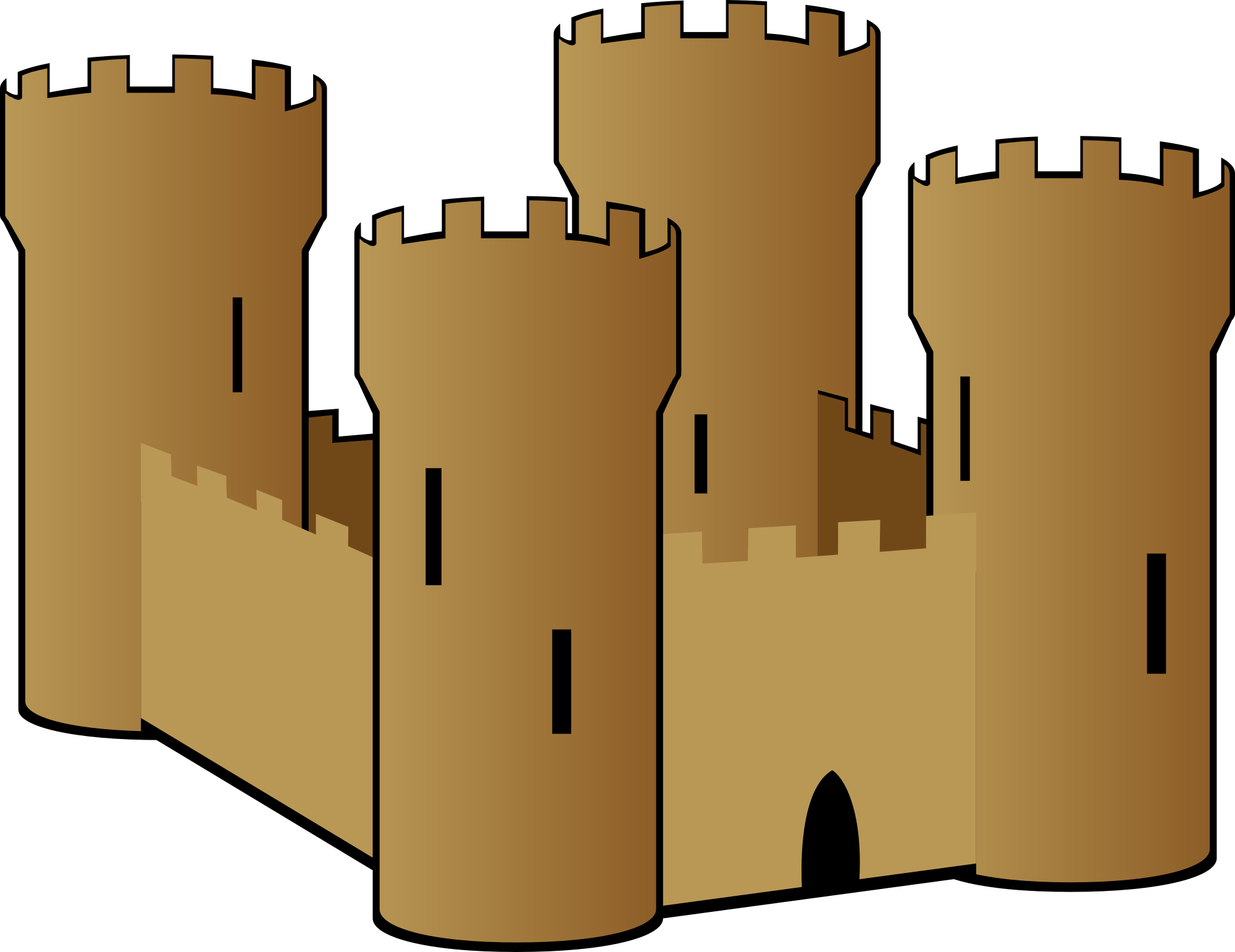 Free sand castle clipart and vector image 2