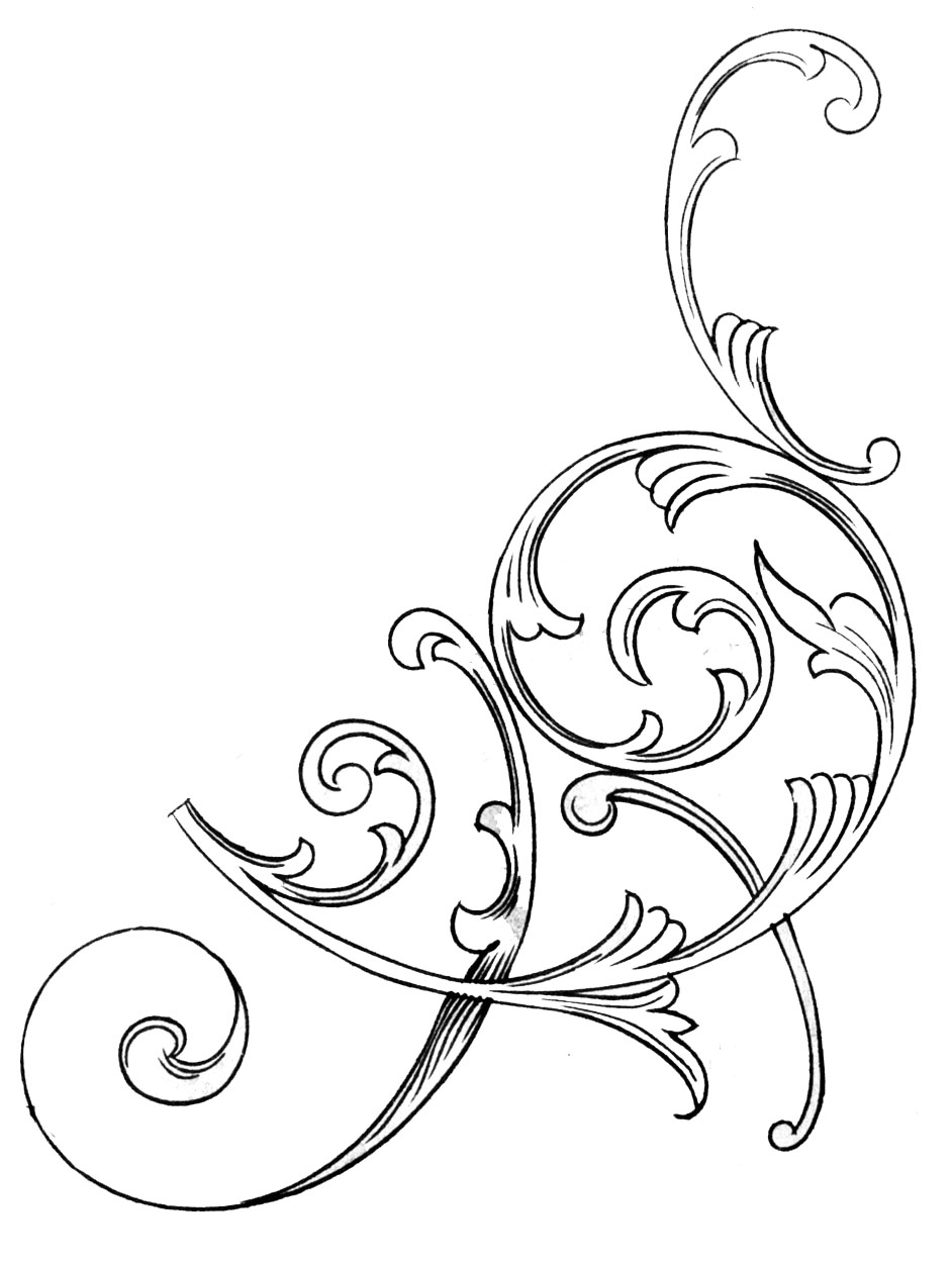 Free scroll design clip art clipart free scrollwork image 2