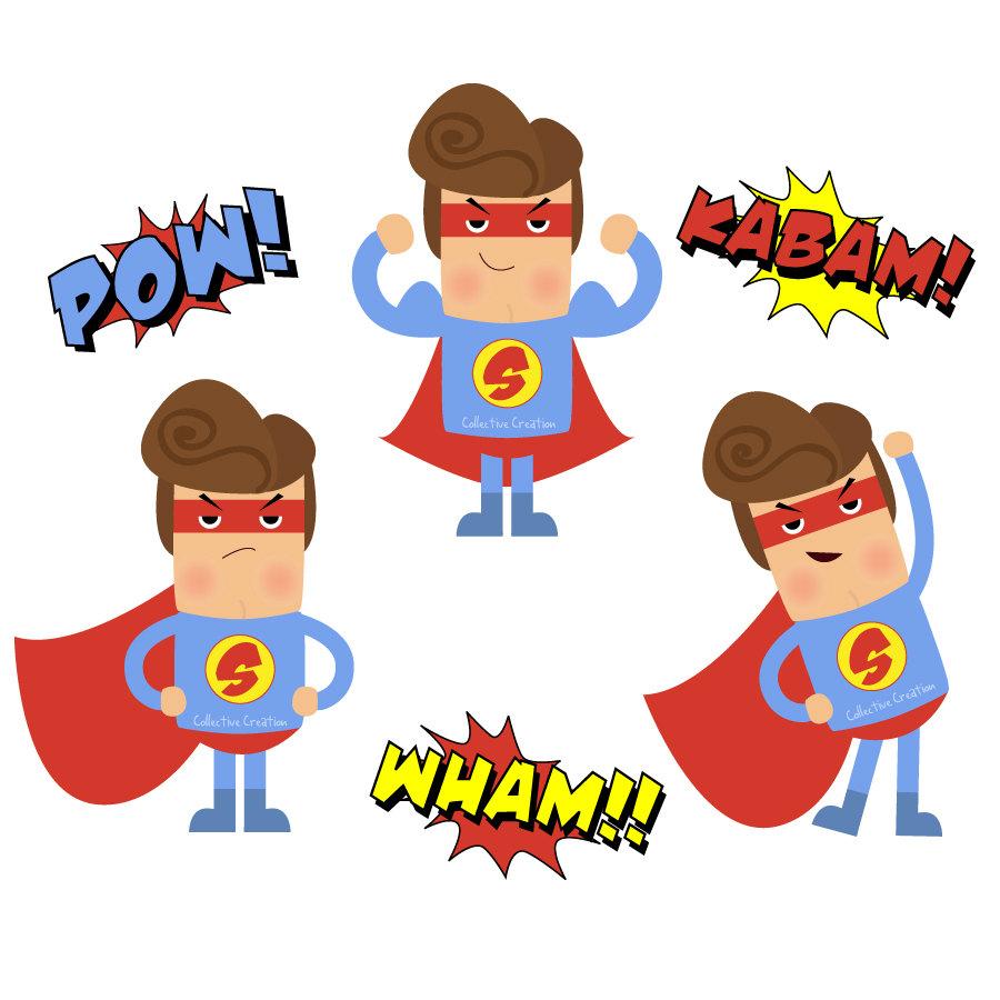 Free superhero clipart 2