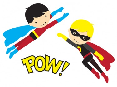 Free superhero clipart for teachers