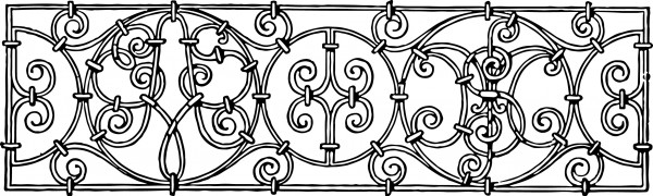 Free vintage clip art iron scrollwork decorative image oh so
