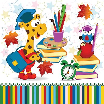 Giraffe bird school supplies clipart the arts image pbs