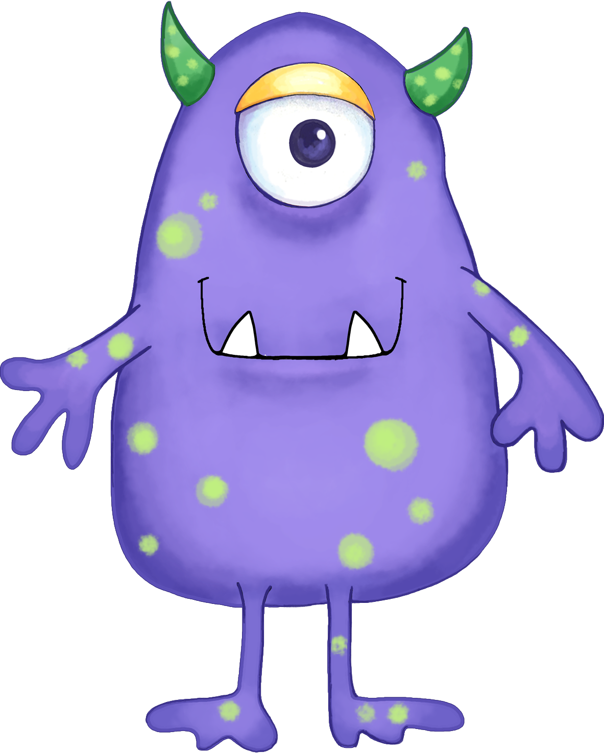 Girl monster clipart 5