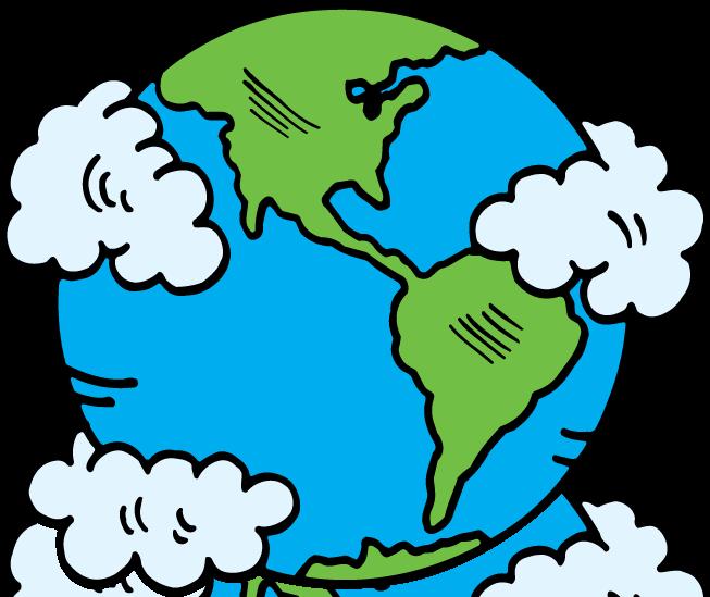 Globe earth clip art at vector image