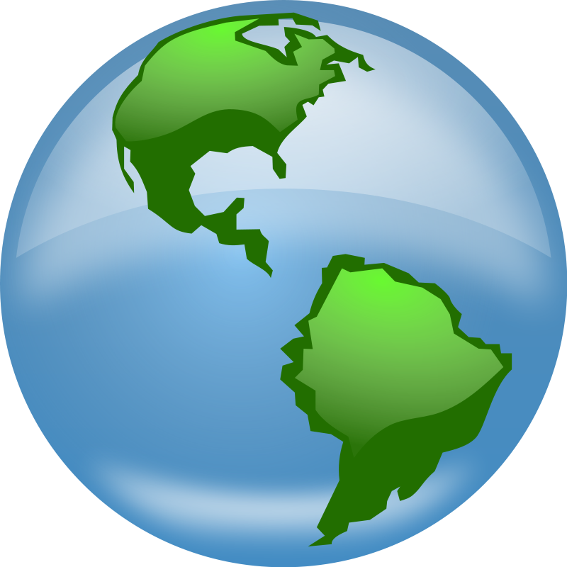 Globe earth clipart black and white free images 3