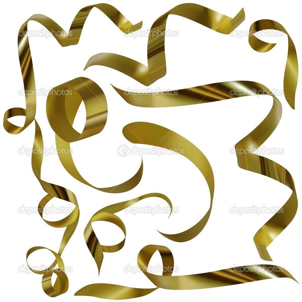 Gold confetti clipart 2
