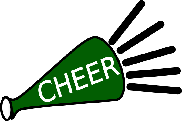 Green cheer megaphone clipart free images 2
