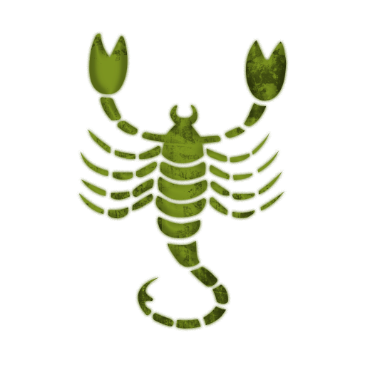Green scorpion clipart