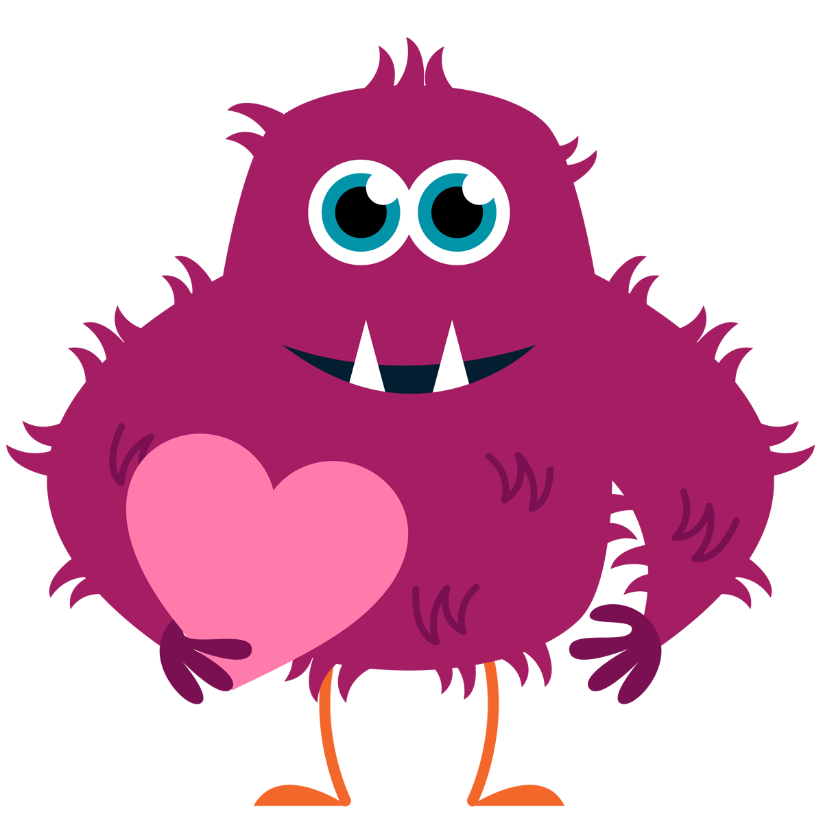 Happy monster clipart free images
