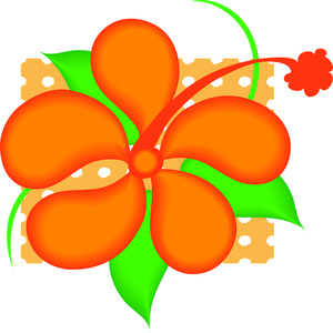 Hawaiian flower border clip art clipart