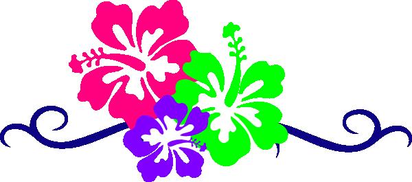 Hawaiian flower border clipart 2