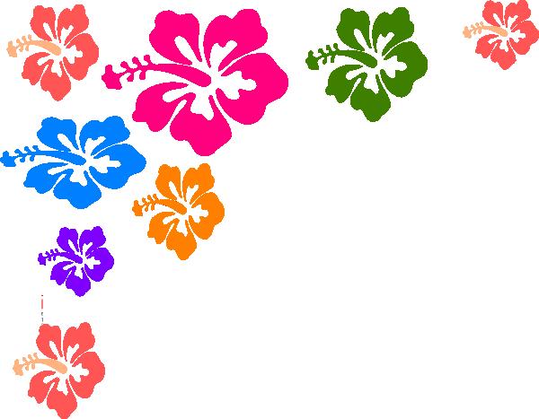 Hawaiian flower border clipart 5