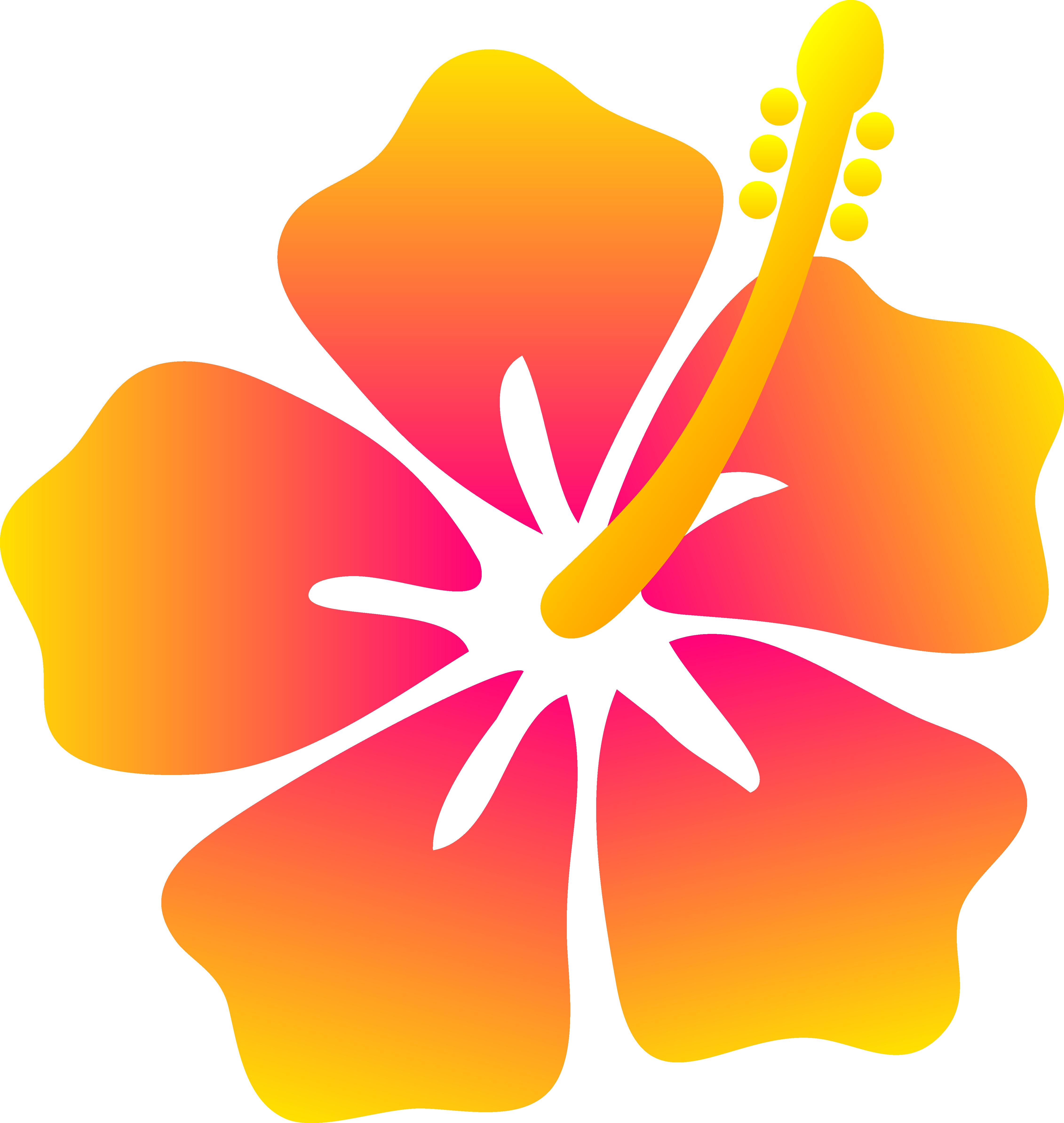 Hawaiian flower clip art flower bright hawaiian clipart 3