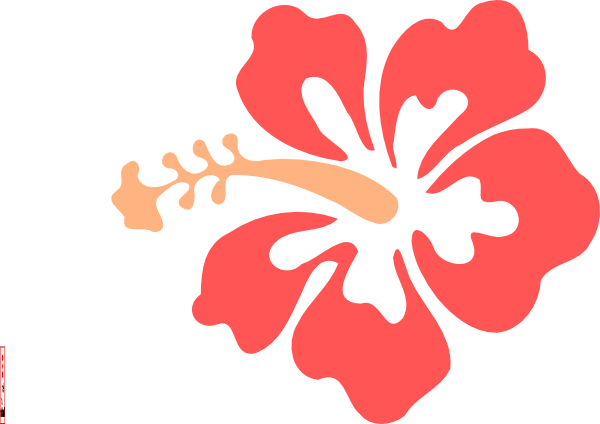 Hawaiian flower hibiscus flower clip art at vector clip art