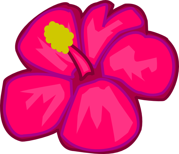 Hawaiian flowers clip art hostted