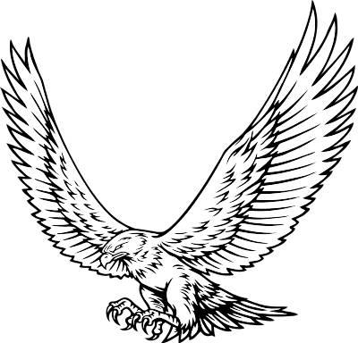 Hawk mascot clipart 3