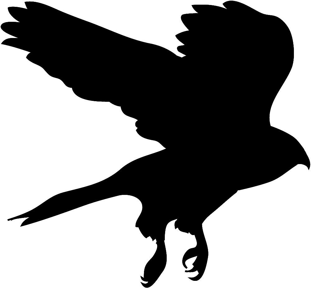 Hawk silhouette clipart 2