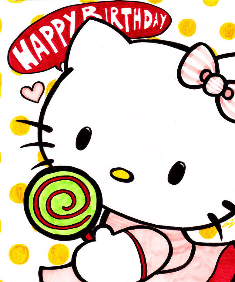 Hello kitty birthday clip art clipart free to use resource