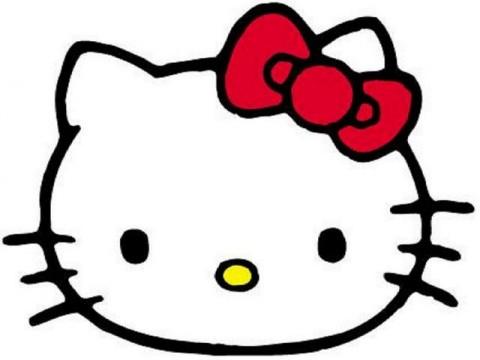 Hello kitty face clipart