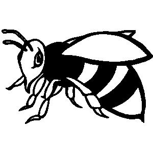 Hornet black and white clipart 2