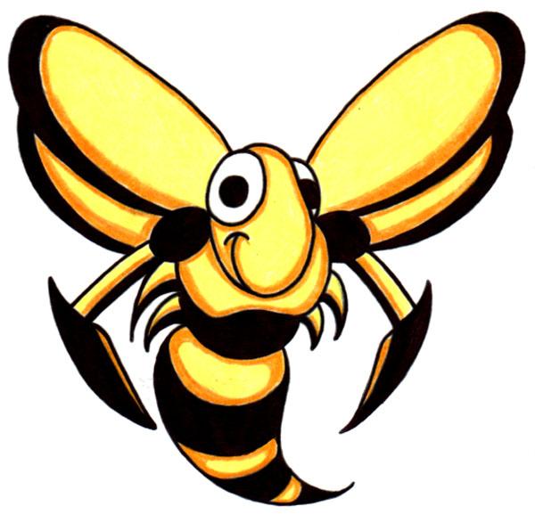 Hornet mascot clipart 2